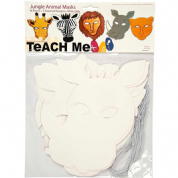 Creotime Teach Me Jungle Animal Masks